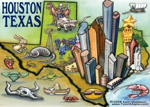 Cartoon Houston Map